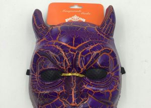 Halloween Scary Mask Purple Devil Mask with Pulse Vein