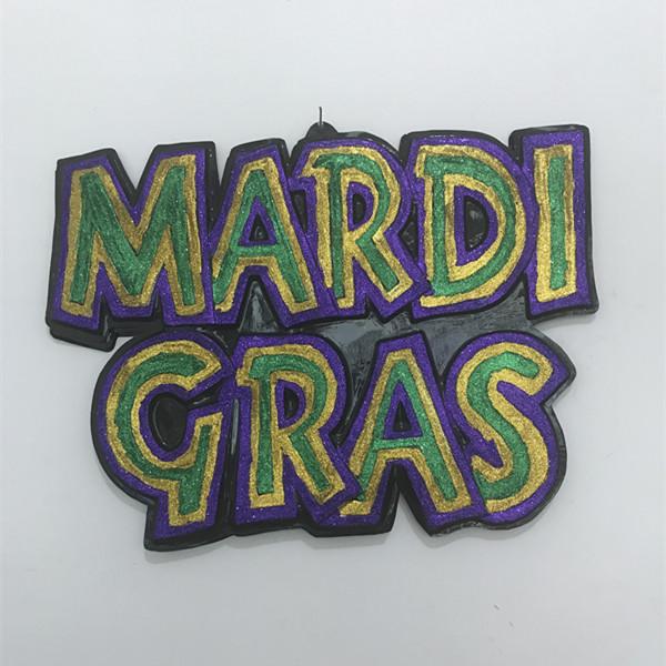 30in x 24in Glitter Mardi Gras Sign PGG For Mardi Gras Decoration