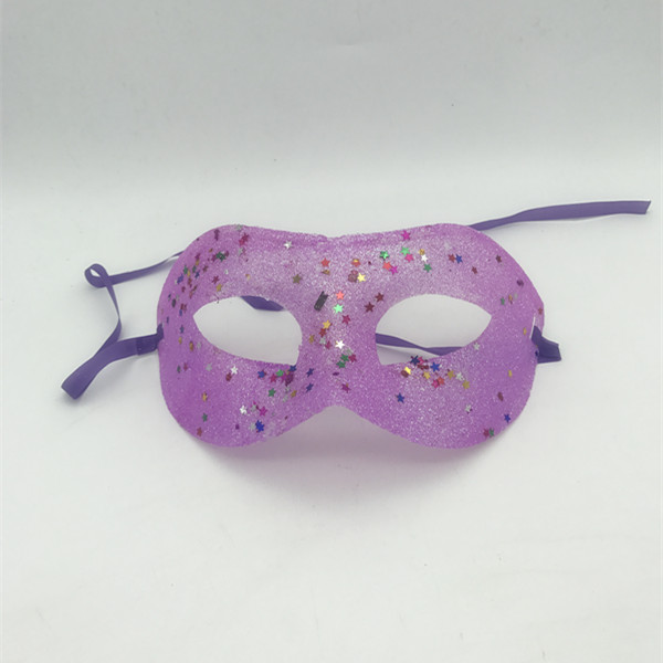 Glitter Eye Mask with Star Sequins For Masquerade Party