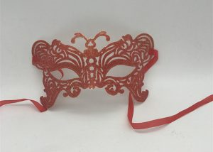 Red Butterfly Mask Glitter Eye Mask