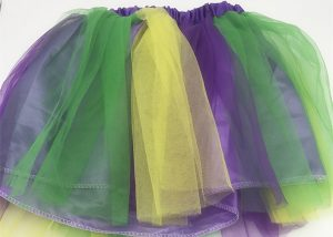 12 Inch Adult and Teen Veil Layer Mardi Gras TuTu