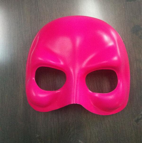 Dark Pink Domino Half Face Mask Halloween Maske