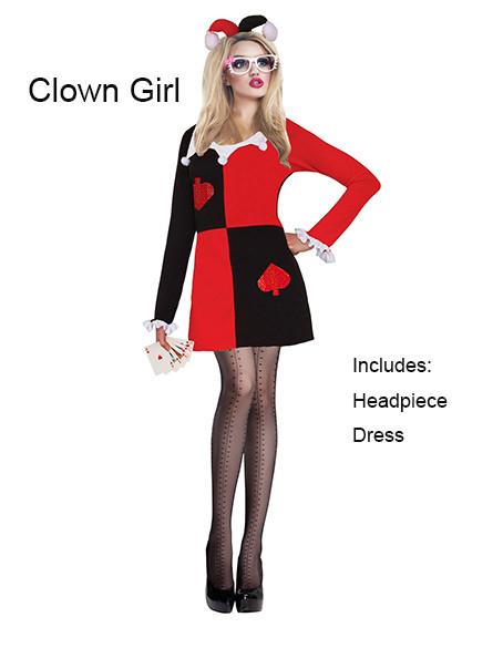 Clown Girl Horror Costume