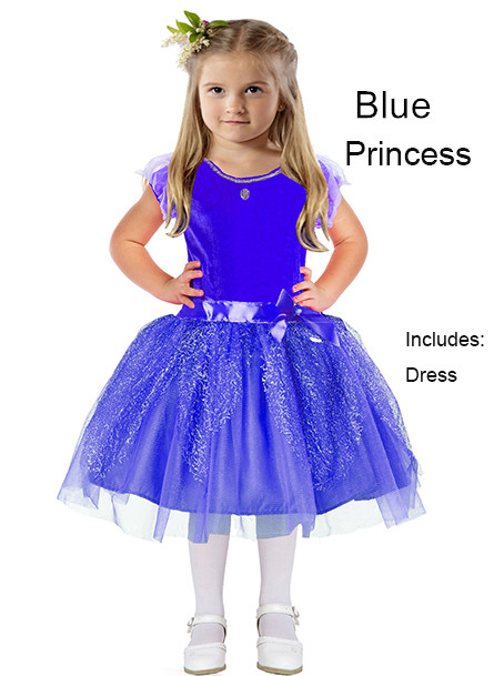 Child Blue Princess Costume Dress Glitter Child Dress  sc 1 st  LegoPartyCraft : blue princess costume  - Germanpascual.Com