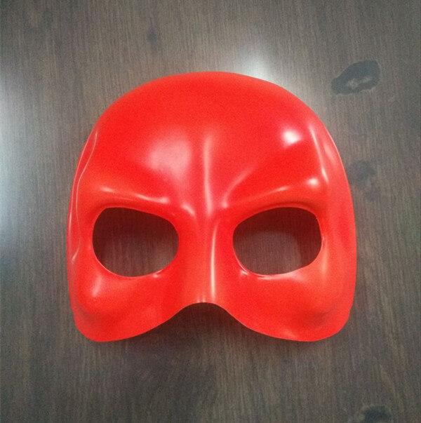 Red Domino Half Face Mask Halloween Maske
