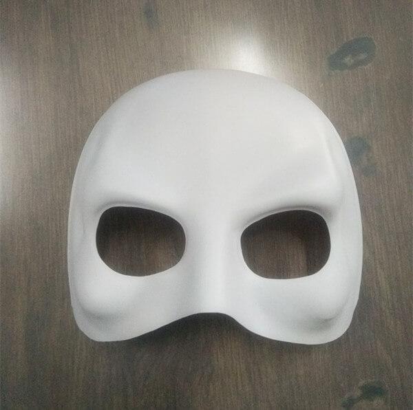 White Domino Half Face Mask Halloween Maske