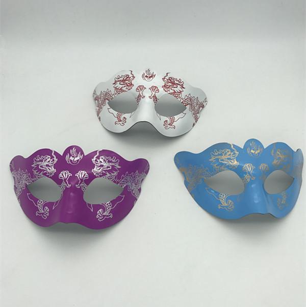 Pink Blue White Dragon Gilidng Mask Carnivale Masks