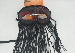Rød Sort Halloween Glitter Masks Brug Tilbehør
