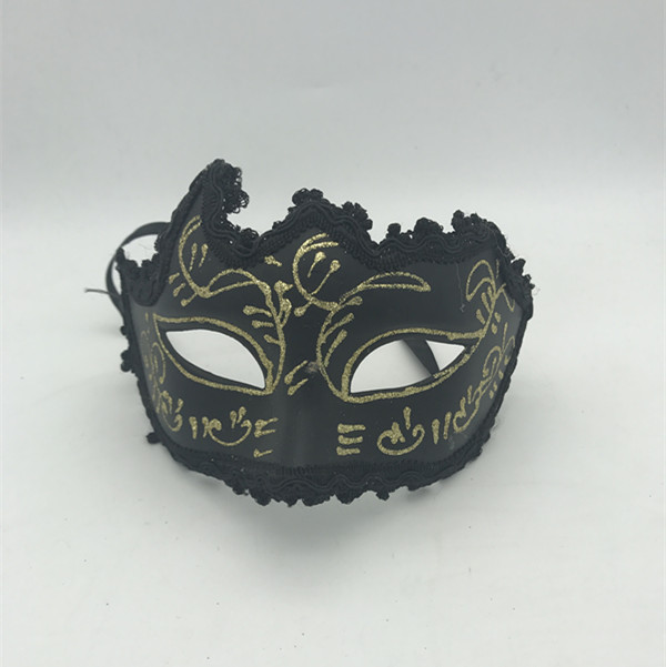 Halloween Masks Buy Black Gold Glitter Eye Mask