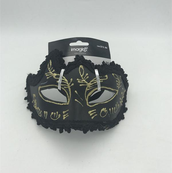 Halloween Masks Buy Black Gold Glitter Eye Mask
