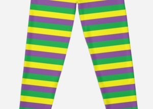 37 In X 13In PGG Stripped Leggings Mardi Gras Costume