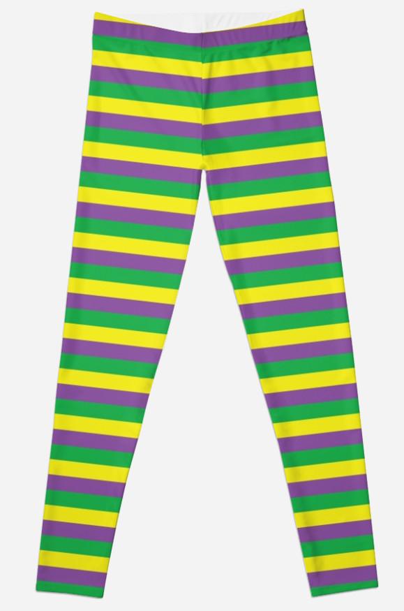 37 In X 13In PGG Stripped Leggings Mardi Gras Costume