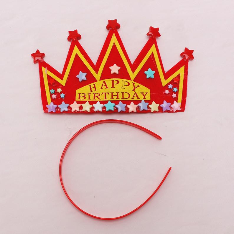 Red Happy Birthday Party Star Crown Star Headband