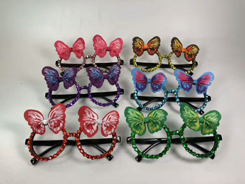 Party Sunglasses Assorted Color Butterfly Eyeglasses