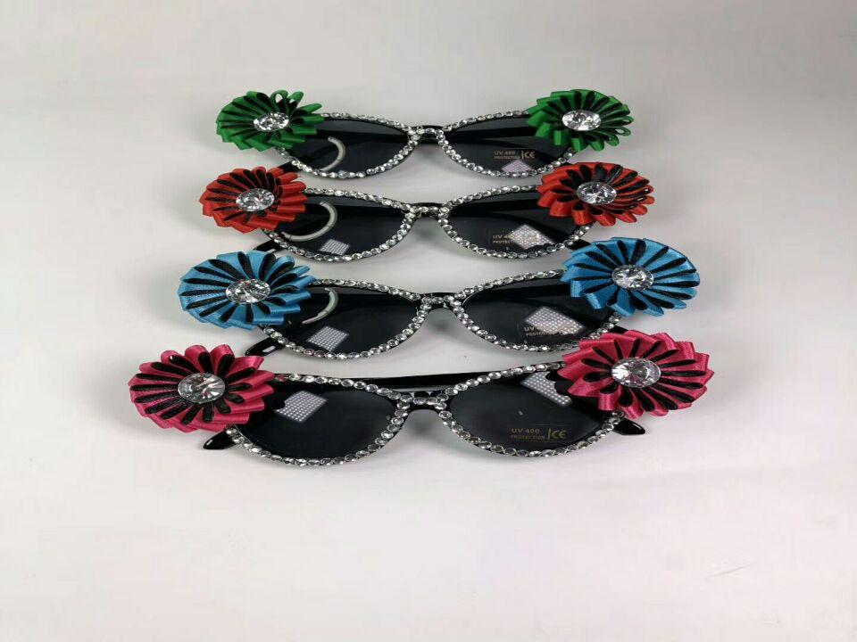 Flower Diamond Sunglasses Party Eyeglasses Novelty Glass