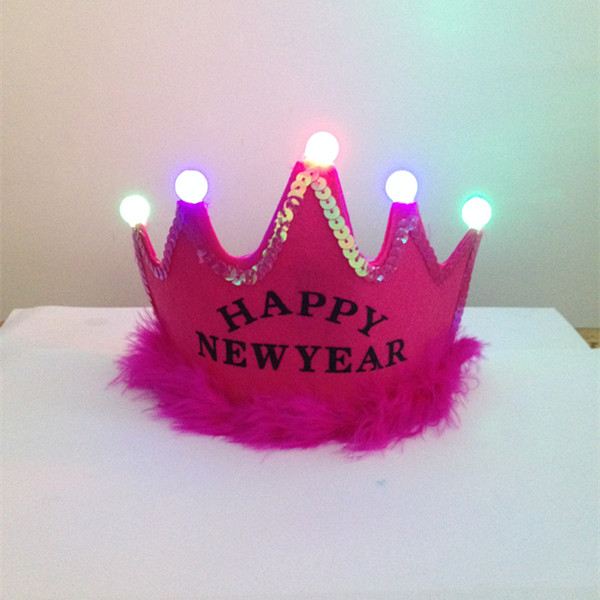 Light Up Princess Tiaras with Trim For New Year Party Supplies