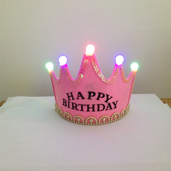Light Up Birthday Crown Tiara