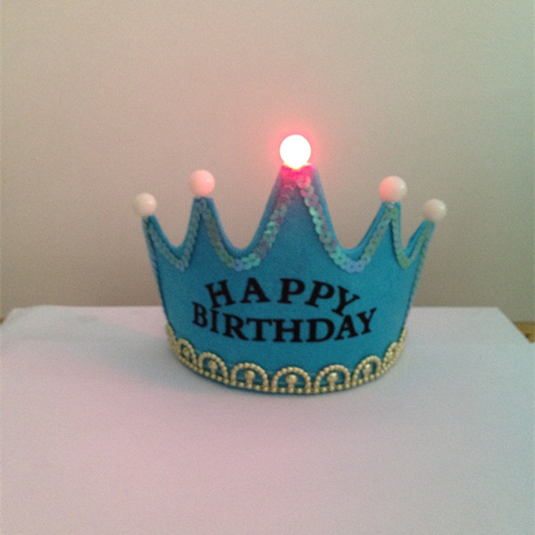Blue Light Up Birthday Crown Tiara