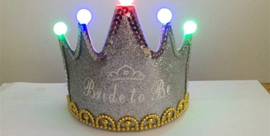Sliver Glitter with Sequin Decorated Bride To Be Crown