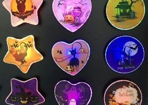 Assorted Styles Halloween Treat or Trick Lighting Up Badge