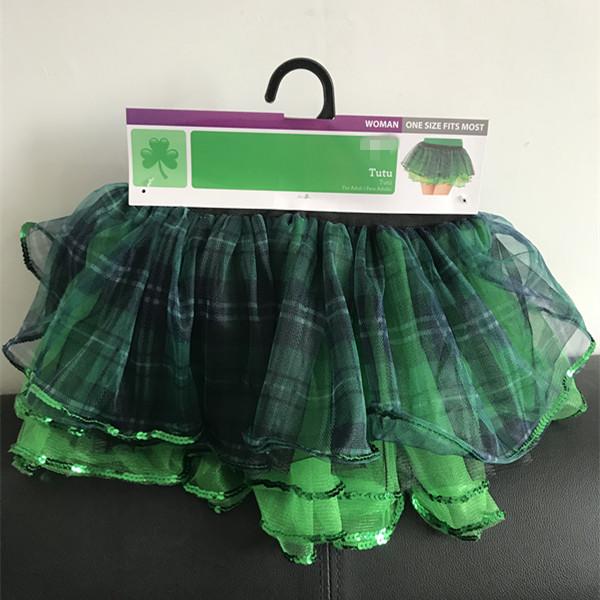 St. Patrick Day Girl Skirt Green Shamrock Toddler Skirts Tutu