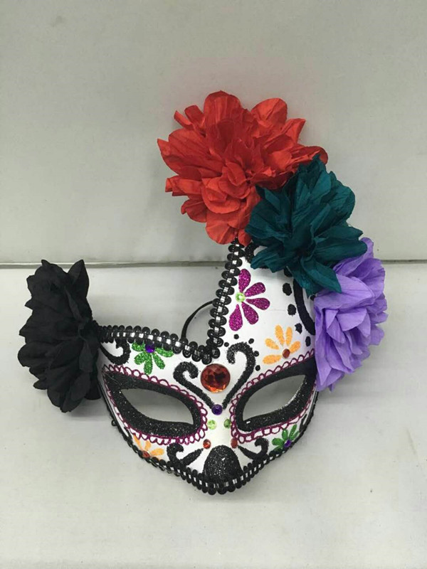 Day of The Dead Masque Mexican Red White Black Men Mask