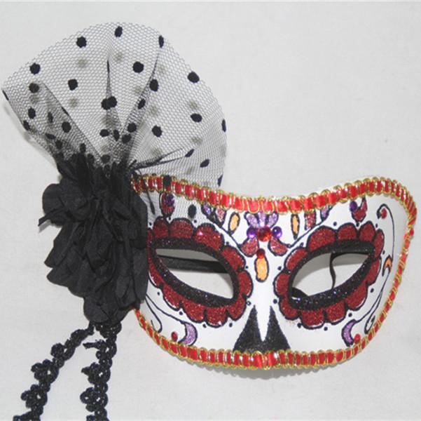 Sugar Skull White Phantom Half Mask