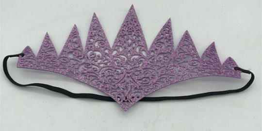 Adult Glittering Yellow/Purple Headband For Any Ball Prom Party