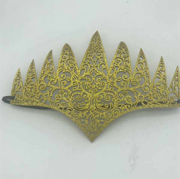 Adult Glittering Yellow Headband For Any Ball Prom Party