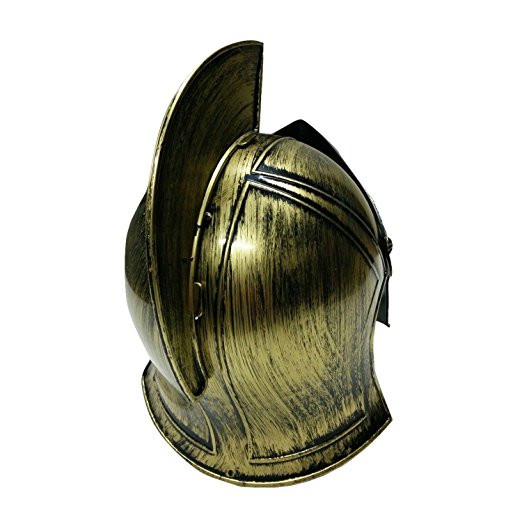Spartan Helmet Gold Bronze Roman Warrior Greek Costume