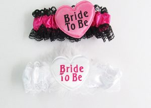 Bachelorette Party Bride to be Sash Pink and White Hen Party Garters