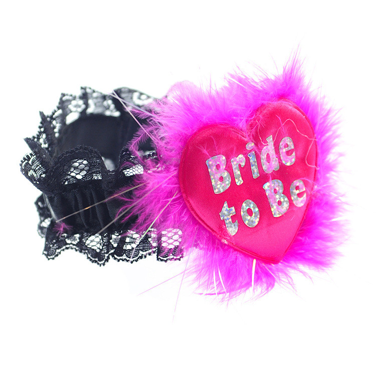 Hen Party Feather Garters Black Sash with White Pink