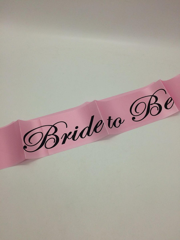 Hen Party Sashes Light Pink with Black Writing
