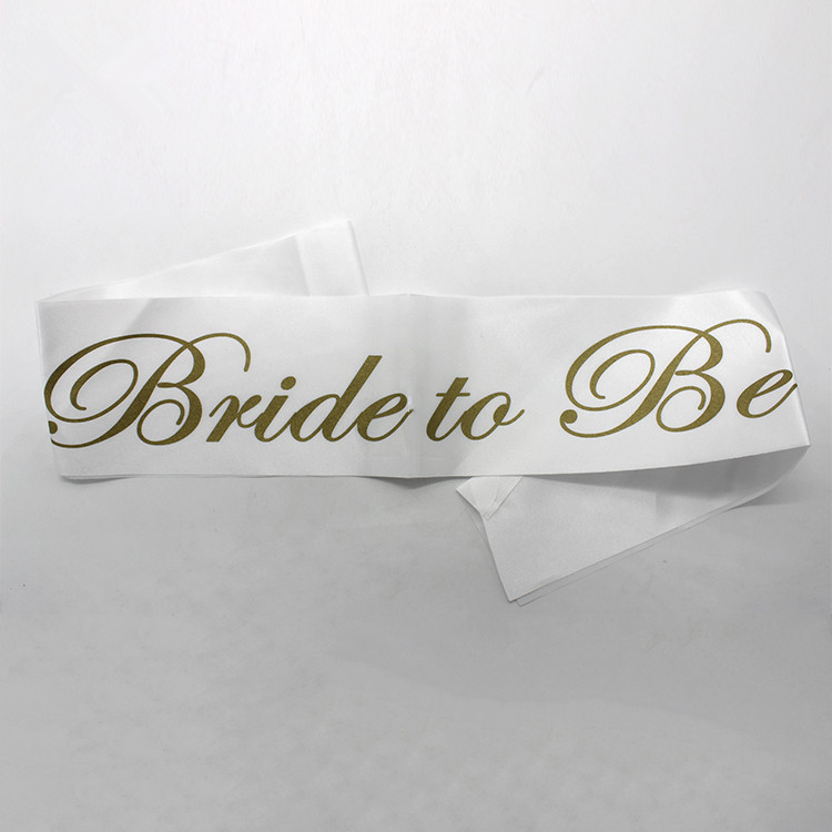 Hen Party Sashes Bride To Be with Gold Writing