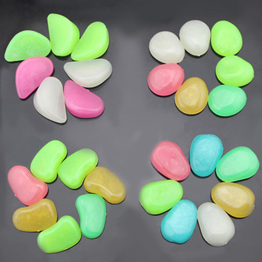 Glow In The Dark Pebbles Stone Glow Stone For Outdoor And Fish Tank