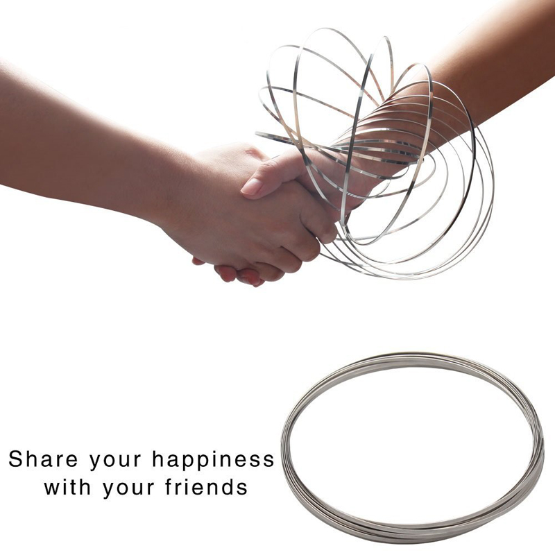 Dancing Stainless Steel Metal Magic Flow 3D Bracelets Toy