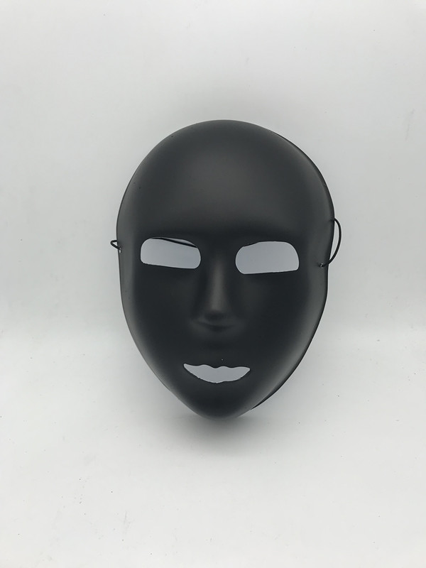 Statymask Svart Halloween Black Mask Mime Masks Costume Accessories