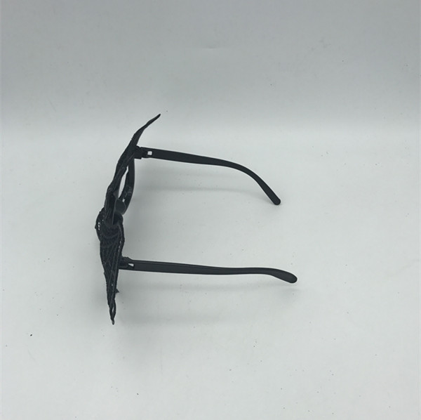 Halloween Black Masks with Glasses Frame