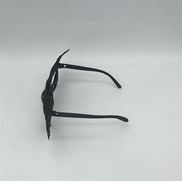 Halloween Black Masks with Glasses Frame