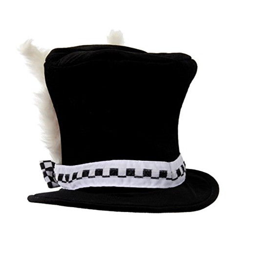 Black Costume Top Hat -Back