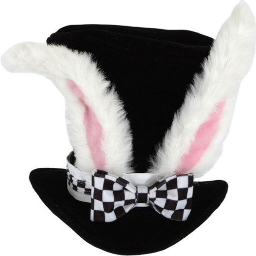 Black Costume Top Hat with White Rabbit Ears Easter Party Supplies