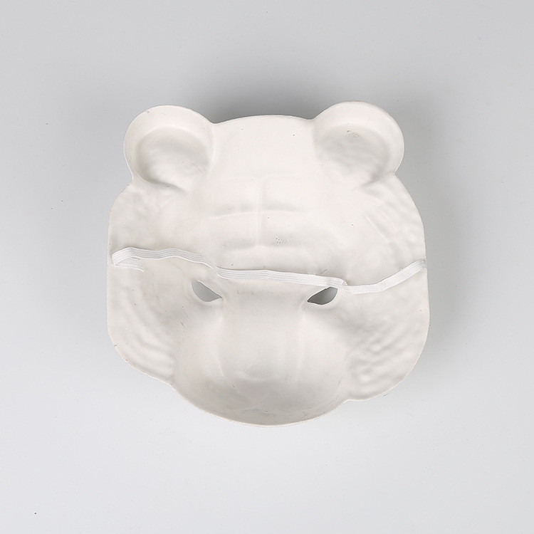 White Tiger Animal Plastic Mask