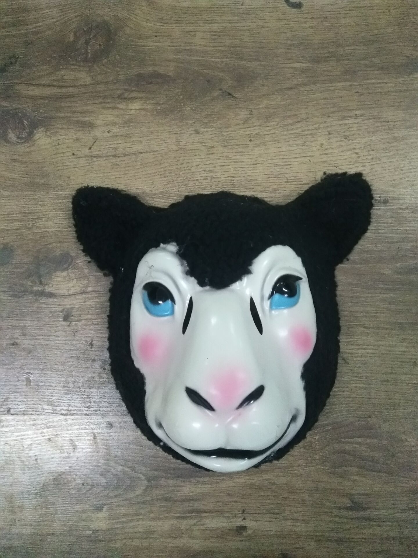 Costume Animal Masks-Black Lamb Costume