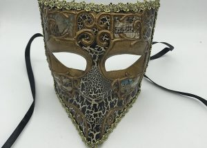 Mardi Gras Masquerade Mask Men Full Face Gladiator Bauta Venetian Mask