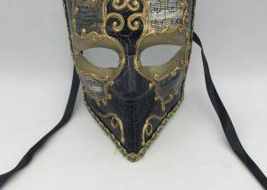 Gold Black Bauta Venetian Masks