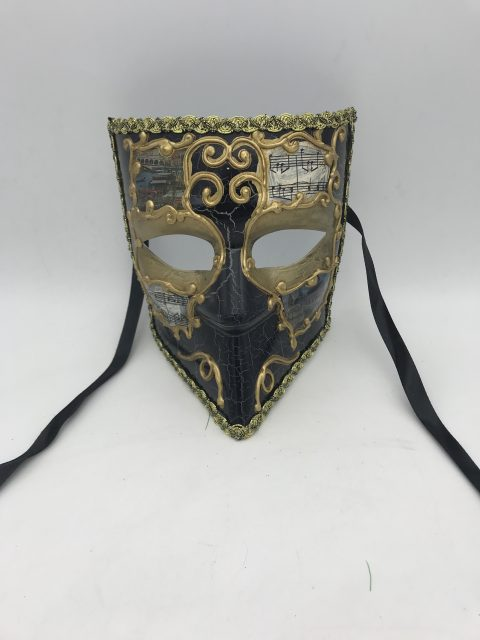 Gold Black Bauta Venetian Masks