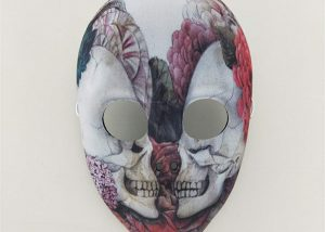 Colorful Mesh Full Face Skull Masks Day of The Dead