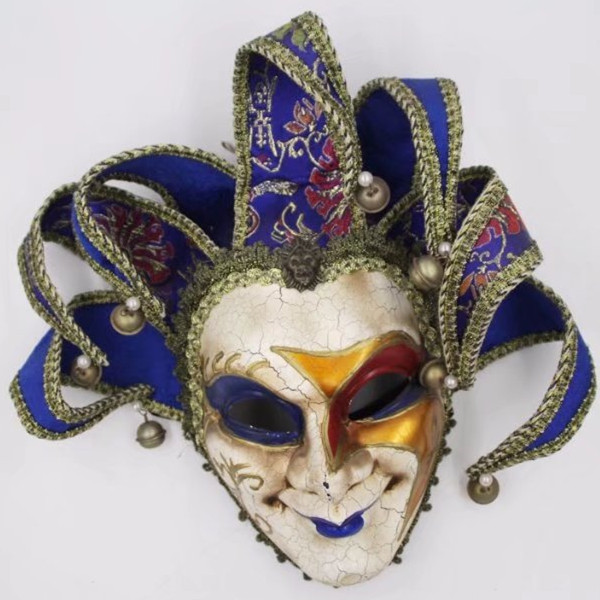 Jester Joker Full Face Mask Venetian Masquerade Decorative Wall Mask