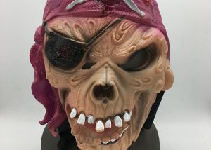 Pirate King Skull Mask Pirate Latex Mask Horror Costume Mask Theater Prop