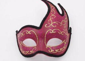Vintage Wine Gold Lined Fancy Mask